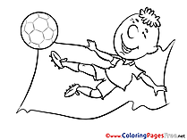 Forward Albania Kick Flag for Kids Soccer Colouring Page