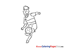 Forward Kids Soccer Coloring Pages