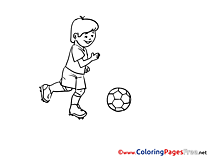 Forward Player free Soccer Coloring Sheets
