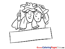 Friends Fans Soccer Coloring Pages free