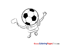 Game Ball printable Soccer Coloring Sheets