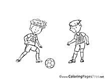 Game Coloring Sheets Soccer free