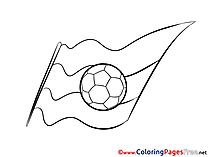 German Flag Ball Colouring Page Soccer free
