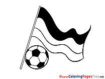 German National Team Flag Soccer Coloring Pages download