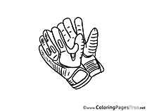 Gloves Football Children Soccer Colouring Page