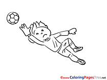 Goalkeeper download Soccer Coloring Pages