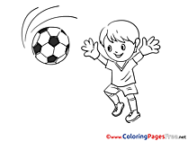 Goalkeeper for Kids Soccer Colouring Page
