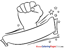 Hand Soccer Colouring Page for Kids