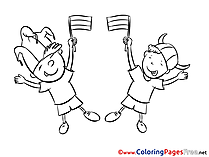 Kids Fans Soccer Coloring Pages download