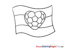 Love Heart Coloring Sheets Soccer free