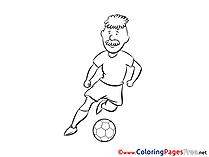 Man Player free Soccer Coloring Sheets