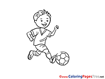 Midfielder Coloring Sheets Soccer free