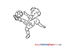 Midfielder Soccer Coloring Pages download