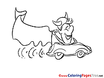 National Team Car Fan Soccer Coloring Pages