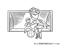 Penalty Kick Kids Soccer Coloring Page