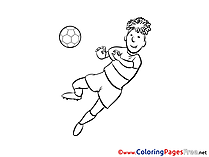 Player Football Soccer Colouring Sheet free