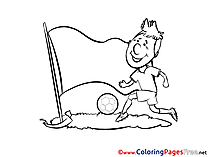 Printable Footballer Coloring Pages Soccer