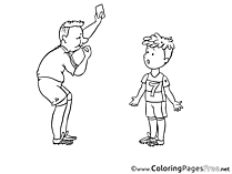 Referee Soccer Colouring Sheet free