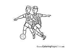Rivals printable Soccer Coloring Sheets