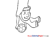 Scarf Fan Ball free Colouring Page Soccer
