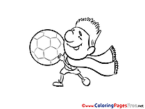 Scarf Player Coloring Pages Soccer for free