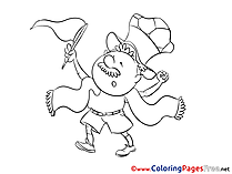 Soccer Colouring Sheet free Fan