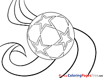 Stars Ball Soccer Coloring Pages download