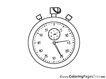 Stopwatch for Kids Soccer Colouring Page