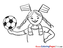 Supporter free Colouring Page Soccer