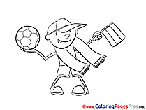 Teenager Colouring Page Soccer free