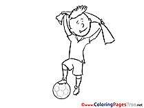 Victory Ball Coloring Pages Soccer for free