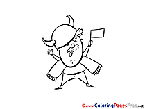 Viking Supporter Soccer Coloring Pages free