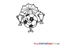 Winner Cups Kids Soccer Coloring Page Ball