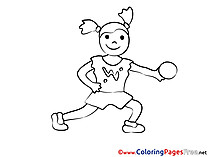 Ball Girl free printable Coloring Sheets