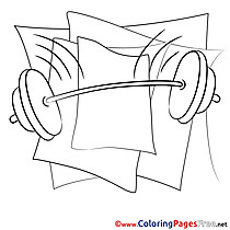 Barbell download Colouring Sheet free