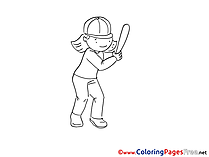 Baseball Coloring Sheets download free