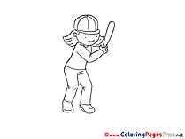 Baseball Coloring Sheets download free