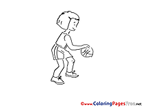 Basketball Colouring Sheet download free