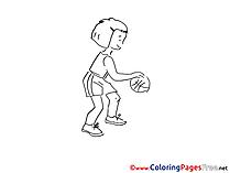 Basketball Colouring Sheet download free
