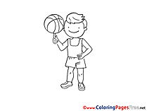 Basketball download printable Coloring Pages