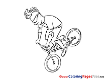 Bicycle for free Coloring Pages download