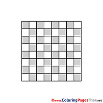 Board Chess Coloring Pages for free