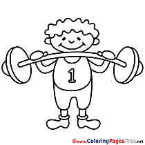 Bodybuilder Kids download Coloring Pages