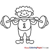 Bodybuilder Kids download Coloring Pages