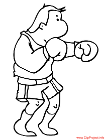 Boxer cartoon image to coloring
