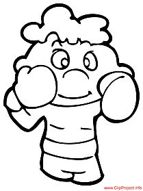 Boxing coloring page