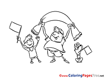 Champion for Kids printable Colouring Page