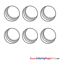 Children Coloring Pages Balls free