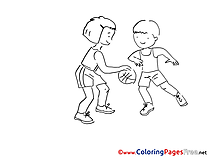 Children Football Coloring Pages free
