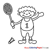 Coloring Pages for free Tennis
